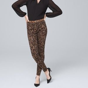 White House Black Market Leopard Skinny Ankle Jean
